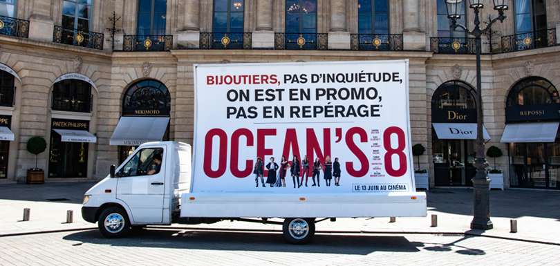 Affiche promotion Ocean's 8 Hypee Communication
